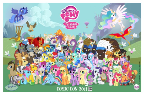 """My little pony friendship is magic group shot r"" by Source. Licensed under Fair use via Wikipedia -"