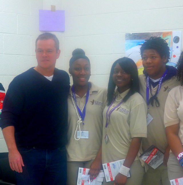 Matt Damon with future Young Communists?